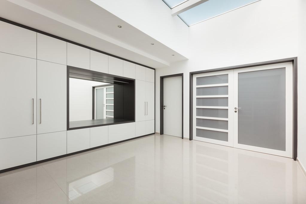 Interior modern house, corridor view